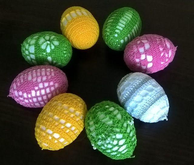 SZYDEŁKO ANI: Jajka wielkanocne szydełkiem zdobione