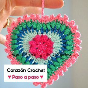 Corazón crochet para colgar explicado paso a paso