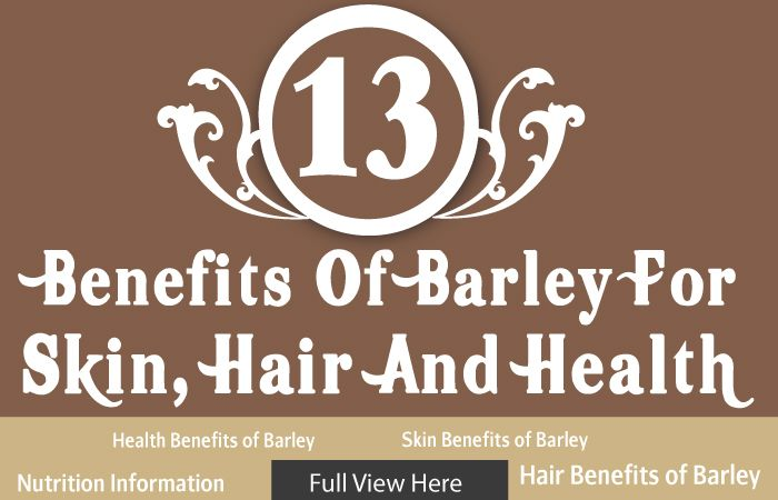 barley is a part of the Indian staple diet and we all consume it in one way or the other. Here are the different barley benefits for health, skin and hair. INFORMATION ON SITE