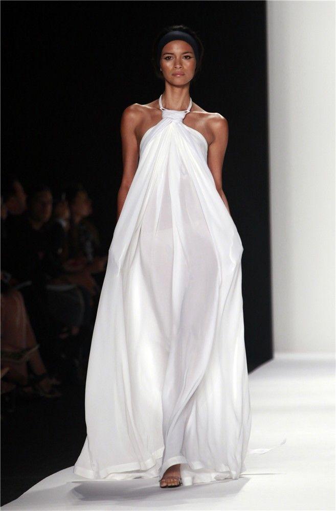 Vestido largo blanco de Kaufmanfranco