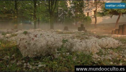Tormentas eléctricas y escenas nunca vistas en Alemania tras la ola de calor (vídeos)