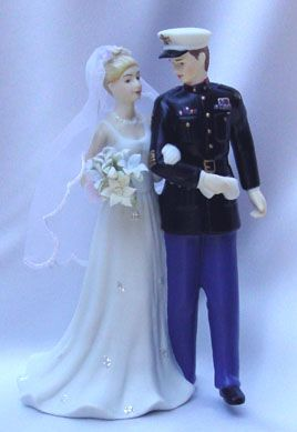 one of the few Marine Corps cake toppers that had an officer's jacket