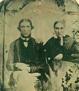 Parents of Frank and Jesse James-- my g-grandmother talked of her family living nearby them. ms