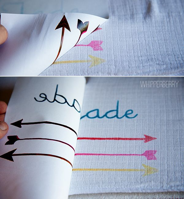 "DIY Arrow Baby Blanket | Painting fabric by Ink Transfer: Using ""DecoArt Ink Effects"""