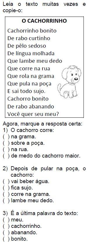 Texto O CACHORRINHO