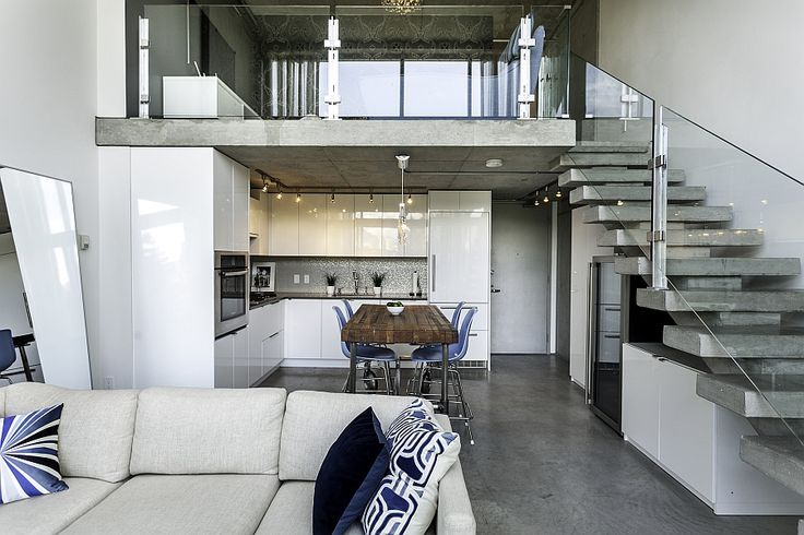 Top notch kitchen and living area of the Vancouver Loft