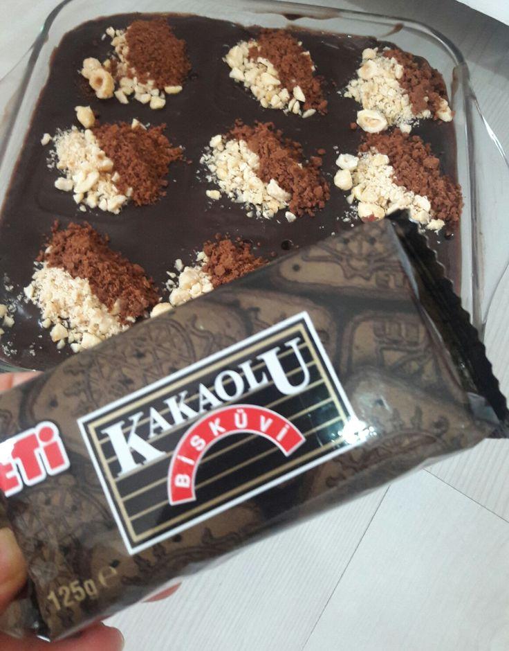 Eti kakaolu bisküvi den nefis ıslak kek 🤗
