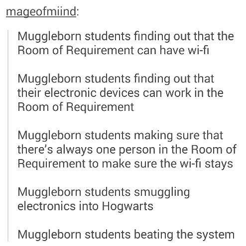 MUGGLE BORNS ARE THE BEST!!!