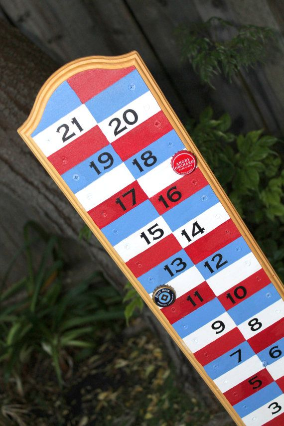 Magnetic Backyard Scoreboard for Bocce Ball, Corn Hole, Ladder Golf, etc