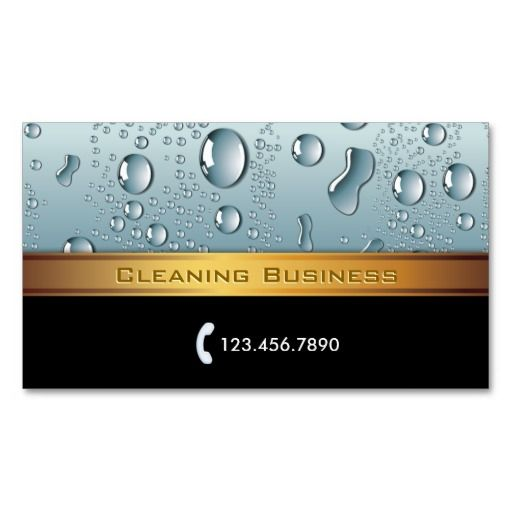 The 13 best business cards images on pinterest janitorial cleaning gold stripe cleaning service business card colourmoves