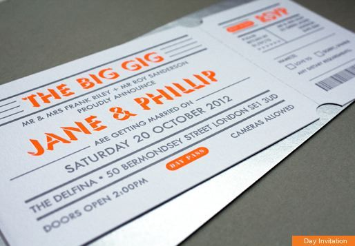gig ticket style invites