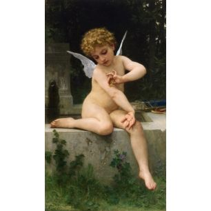 Cupid with Butterfly |  Original painting by William-Adolphe Bouguereau