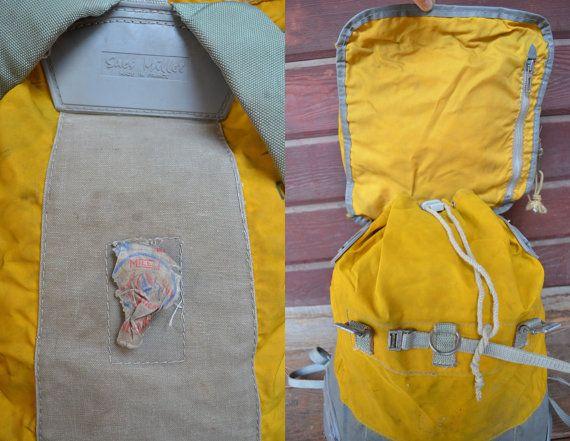 Vintage Rare Yellow Rene Desmaison French por RoslynVTGTradingCo