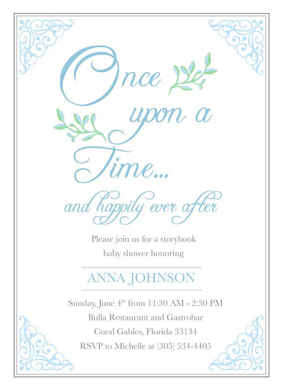 Story Book Baby Shower Invitation Storybook Invitation Fairy