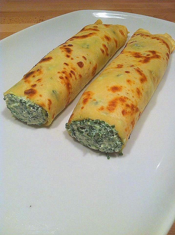 Recetas de cocina: Crepes con Espinacas