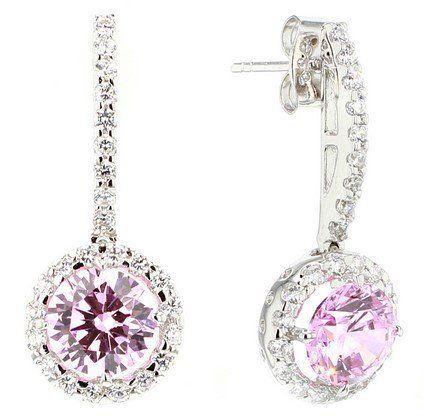 Pink Lady #Earrings C$538 - FERI 950 Siledium Silver http://bit.ly/1N7CHwy