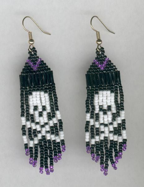 Skull and Crossbones Pirate Princess Beaded Earrings by FoxyMomma