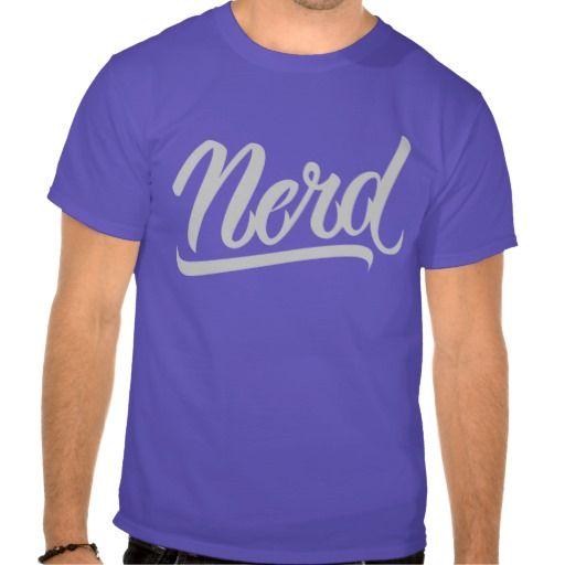 NERD T-SHIRTS #Nerd #lettering #LetterHype