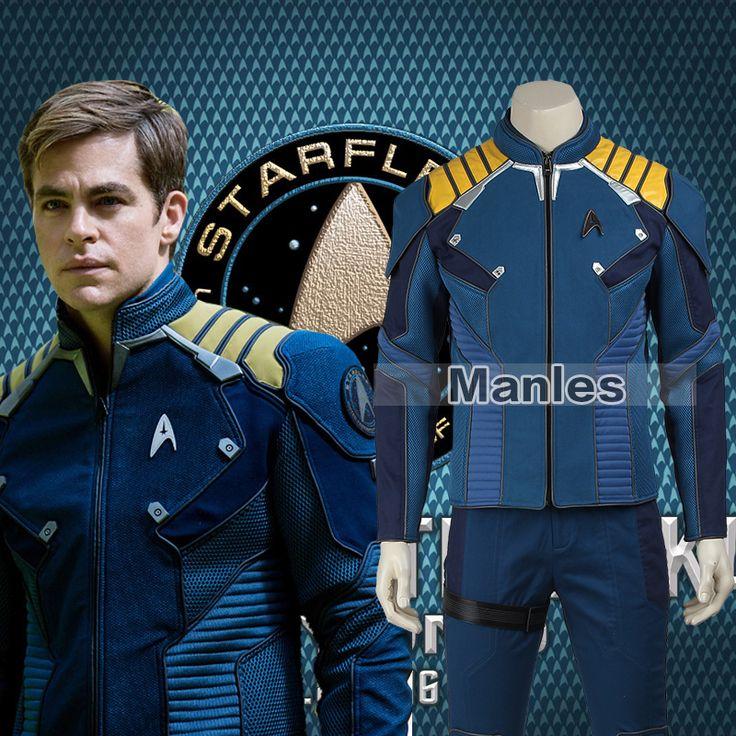 ==> [Free Shipping] Buy Best Star Trek Beyond Captain Kirk Costume Cosplay Adult Men Commander Kirk Battle Twill Suit Superhero Halloween Christmas Male Online with LOWEST Price | 32723742172