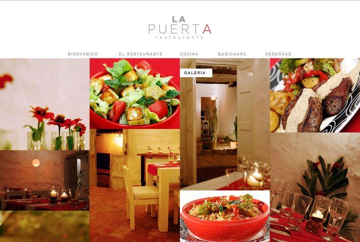 Sitio web para LA PUERTa Restaurante en #Barichara - Año ©2011