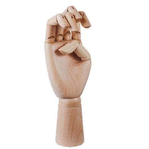 Klassisk træ hånd der er ligeså dekorativ som praktisk. Pynter i vindueskarmen, soveværelset og badeværelse. Men også praktisk til smykker og lign. Materiale: Samak wood Mål: W: 9.6 x H: 22 cm