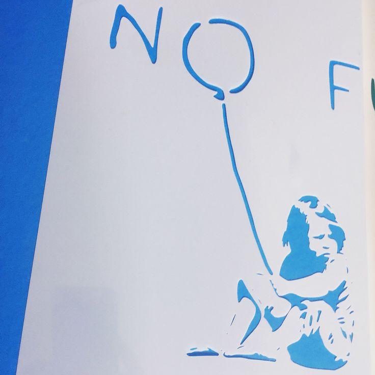 Banksy classic piece 'No Future'  #banksy #nofuture #stencil #banksystencil #createcuts #etsyshop #handcrafted #etsyseller #shoplocal #template #handmade