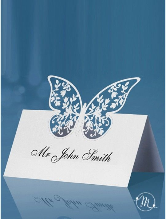 Segnaposto Cavaliere farfalla bianca. Segnaposto - cavaliere farfalla bianca.  Da posizionare nei tavoli degli invitati, questi segnaposto, renderanno unico il vostro evento. Ordine minimo 10 pezzi e multipli di 10.  Materiale: cartoncino perlato. Misure: 9 x 6.5cm. In #promozione #matrimonio #weddingday #ricevimento #wedding #segnaposto #segnatavolo #decorazioni #sconti #offerta