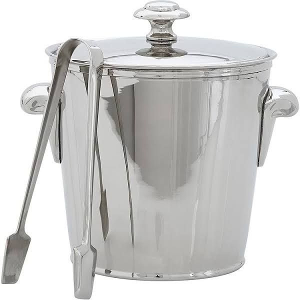 Harrison Bar Ice Bucket with Tongs at Pottery Barn - Tabletop - Bar Accessories