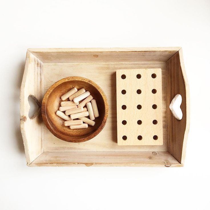Montessori practical life tray