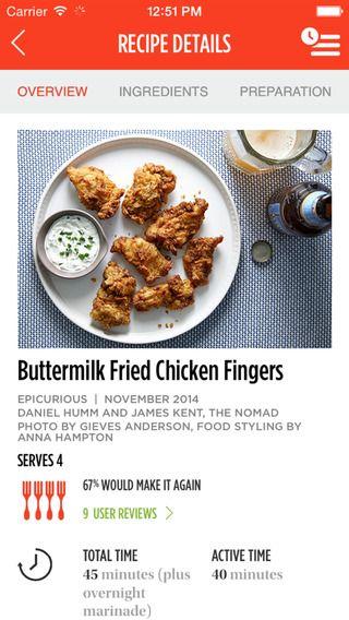 Epicurious Recipes & Shopping List by Condé Nast Digital