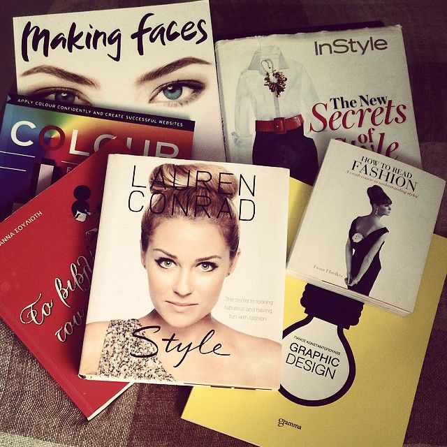My favourite books  #fashion #design #books #makeup #style   https://www.facebook.com/MakigiazCom