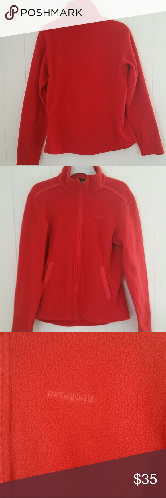 Womens Patagonia Fleece Jacket Size XS Color - orange  Brand - Patagonia Tag is marked as seen in photos In EUC  100% polyester Patagonia Jackets & Coats
