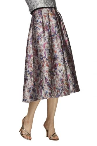 Floral Jacquard Full Skirt from PHOEBE COUTURE