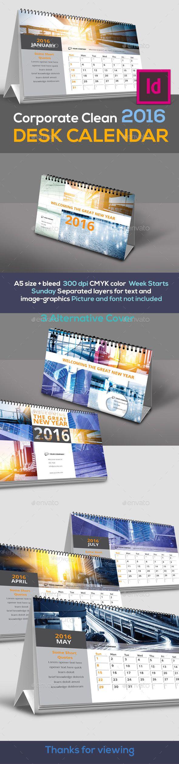 Corporate Desk Calendar 2016 - Calendars Stationery