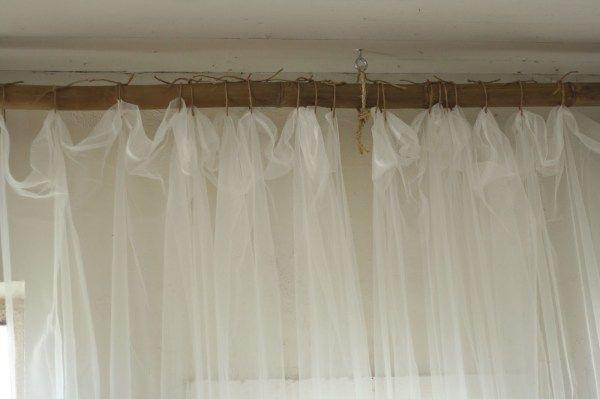 25 Creative Diy Curtain Rod Tutorials Diy Curtain Rods Hanging
