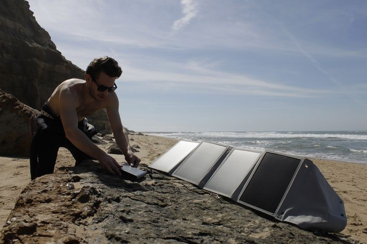 Charge the A2 (or any other device; laptops, smartphones and tablets) with our Solar Packs while you're catching some waves!  #lifepower #solarpower #offthegrid #portablepower #wandering #surf