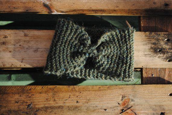 Green Headband  handmade  Icelandic wool by Kollestrik on Etsy, $45.00