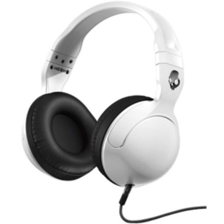 Skullcandy Hesh 2 Headset - Stereo - White, Black, Gunmetal - Mini-phone - Wired - 35 Ohm - Over-the-head - Binaural - Supra-aural - 4.27 ft Cable