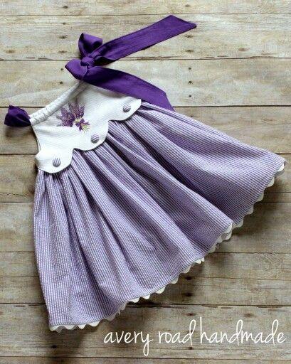 Scalloped bodice on a pillowcase dress by Avery Road Handmade