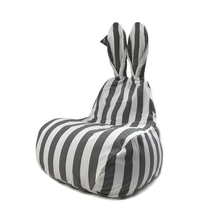 Rabito Small Bean Bag Limited Edition Grey Stripes