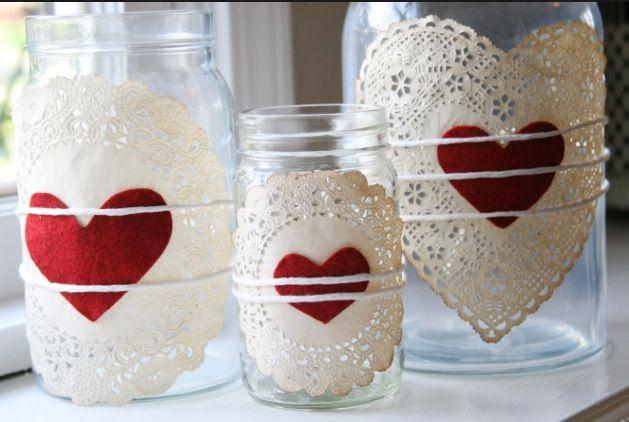 DIY Valentine jars ❤️ #february #teamorganize #clutterless