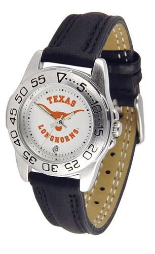 University of Texas Longhorns Women's Leather Band Athletic Watch
