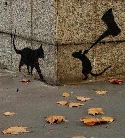 Graffiti Art  (but only a minion vs squirrel!) www.minionheadquarters.com