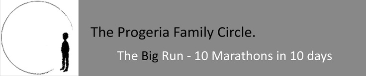 The Big Run is 10 marathons in 10 days and the aim is to raise awareness and sponsorship for Progeria Family Circle (UK).  This is a debilitating condition that causes the body to age at an accelerated rate and has dominated the young lives of 14-year old Hayley Okines and 13-year old Harry Crowther. In April 2012, Charlotte Okines, sister of Hayley, and her friend Becky Reid will run from Harry's home in Yorkshire to Hayley's home county of Kent – a total of 272 miles.