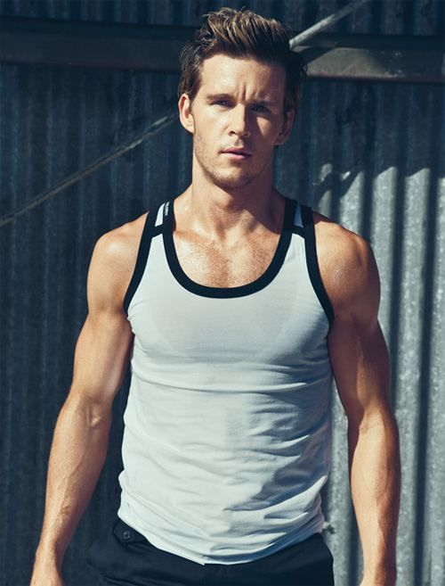Ryan Kwanten.  Did you know he is a yoga instructor?