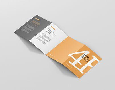 4 Fold Brochure Mockup Din A4 A5 A6 Mockups Mockup Design