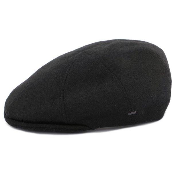 Casquette Plate Noir Seddon par Bailey Le style Bailey sur Hatshowroom.com #casquette #chapeau #bonnet