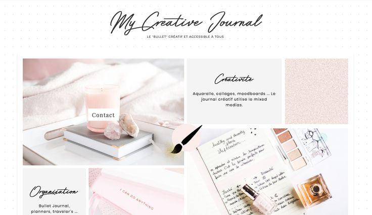 My creative bullet journal ! Blog pour développer sa créativité apprendre à s'organiser avec à la fois les outils du bullet journal mais en version souple et accessible et les techniques de mixed media