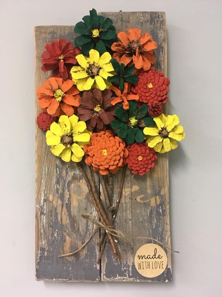 Szyszki Kwiaty Jesien Drzewo Autumn Cone Pine Cone Crafts Pine Cone Art Cheap Christmas Crafts