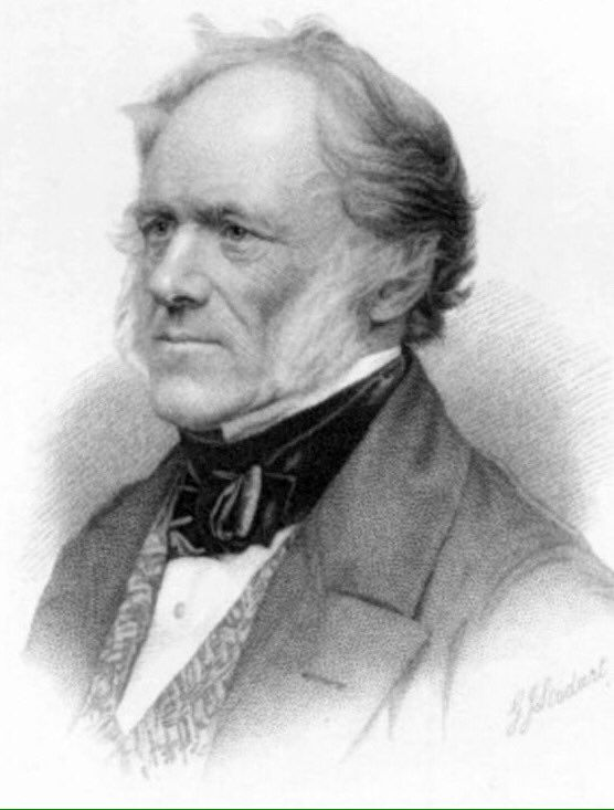 Sir Charles Lyell - foremost geologist of his day and advocate for uniformitarianism and drifting ice